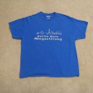 d8270e952cc6 Vegas Strong Battle Born Mens Blue Silver T-Shirt